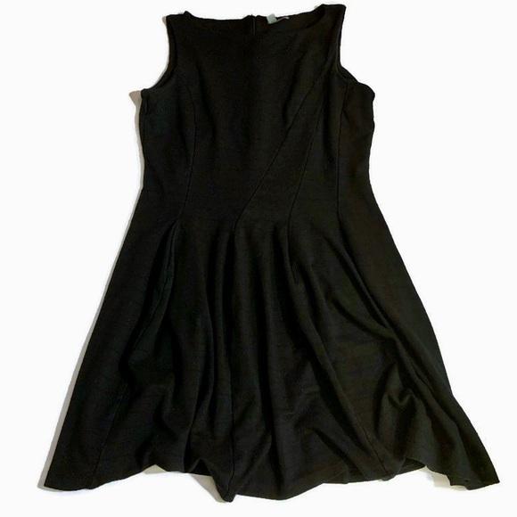 Halogen Dresses & Skirts - Halogen Midi Black Sheath Dress Size L Sleeveless.